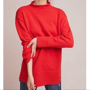 Anthropologie MOTH Red Saskia Pullover Sweater